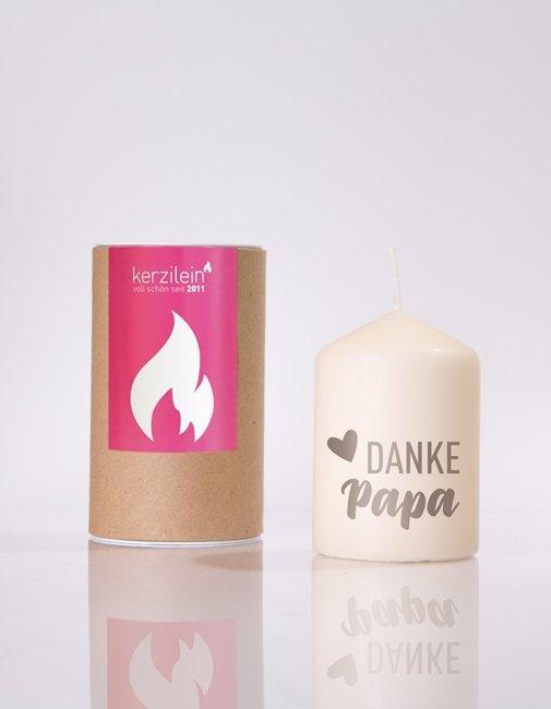 """Kerze """"Danke Papa"""""""